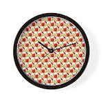 Christmas Clownfish Pattern Wall Clock