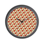 Christmas Clownfish Pattern Wall Clock