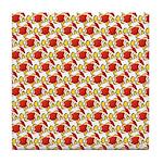 Christmas Clownfish Pattern Tile Coaster