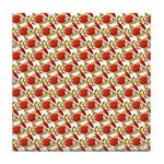 Christmas Clownfish Pattern Tile Coaster