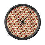 Christmas Clownfish Pattern Large Wall Clock