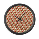 Christmas Clownfish Pattern Large Wall Clock