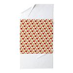 Christmas Clownfish Pattern Beach Towel