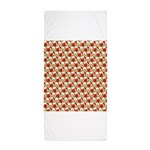 Christmas Clownfish Pattern Beach Towel