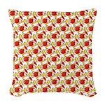 Christmas Clownfish Pattern Woven Throw Pillow