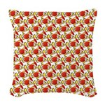 Christmas Clownfish Pattern Woven Throw Pillow