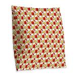 Christmas Clownfish Pattern Burlap Throw Pillow