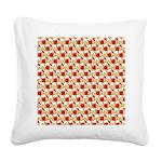 Christmas Clownfish Pattern Square Canvas Pillow