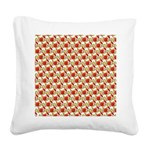 Christmas Clownfish Pattern Square Canvas Pillow