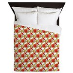 Christmas Clownfish Pattern Queen Duvet