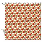 Christmas Clownfish Pattern Shower Curtain