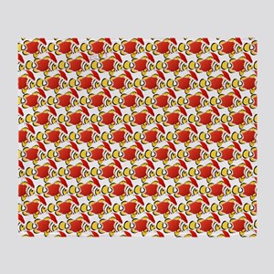 Christmas Clownfish Pattern Throw Blanket