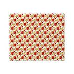 Christmas Clownfish Pattern Throw Blanket