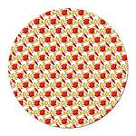 Christmas Clownfish Pattern Round Car Magnet