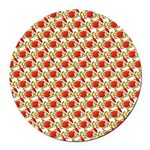 Christmas Clownfish Pattern Round Car Magnet