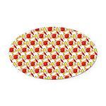 Christmas Clownfish Pattern Oval Car Magnet