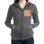 Christmas Clownfish Pattern Women's Zip Hoodie