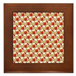 Christmas Clownfish Pattern Framed Tile