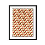 Christmas Clownfish Pattern Framed Panel Print