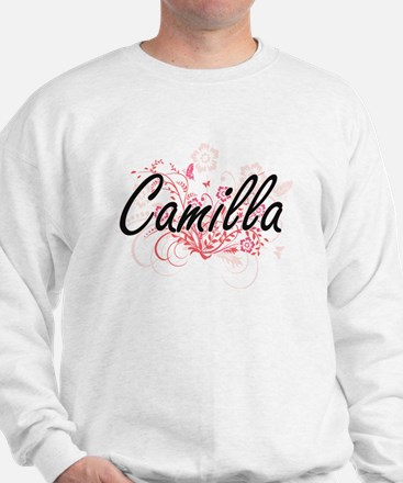 Camilla Artistic Name Design with Flowe Sweatshirt