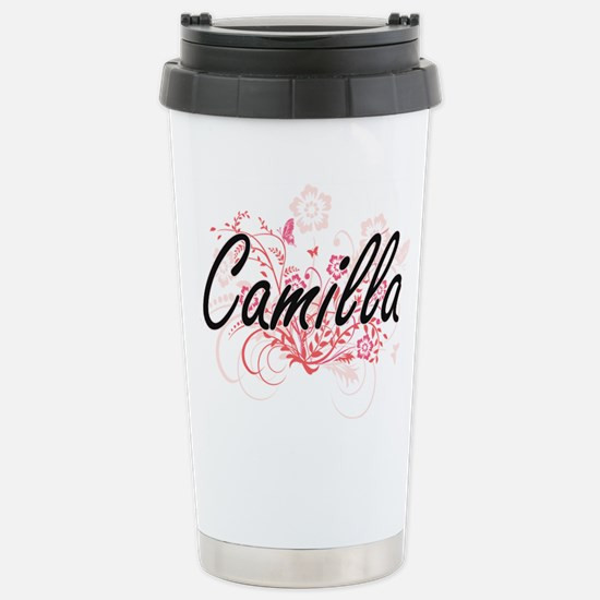 Camilla Artistic Name D Stainless Steel Travel Mug