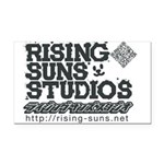 Risingsuns Studios J Black Rectangle Car Magnet