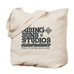 Risingsuns Studios J Black Tote Bag