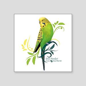 Green Parakeet Sticker