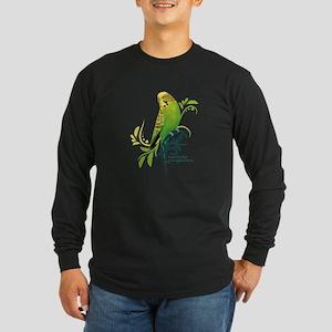 Green Parakeet Long Sleeve T-Shirt