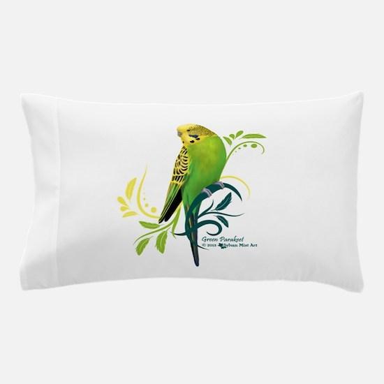 Green Parakeet Pillow Case