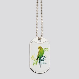 Green Parakeet Dog Tags