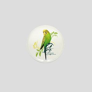 Green Parakeet Mini Button