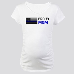 Police: Proud Mom Maternity T-Shirt