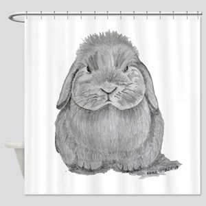Holland Lop by Karla Hetzler Shower Curtain