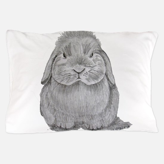 Holland Lop by Karla Hetzler Pillow Case