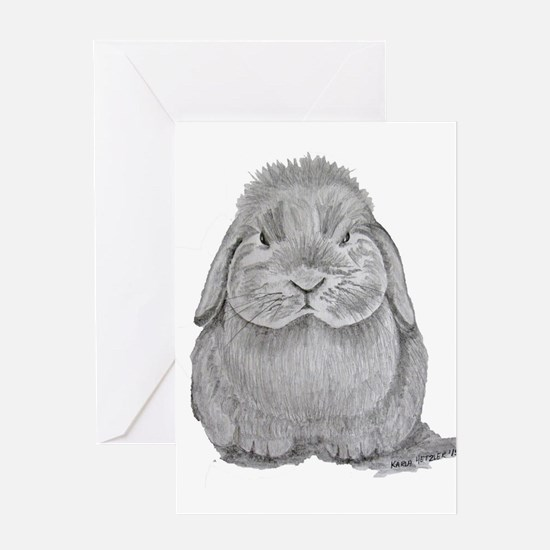 Holland Lop by Karla Hetzler Greeting Cards
