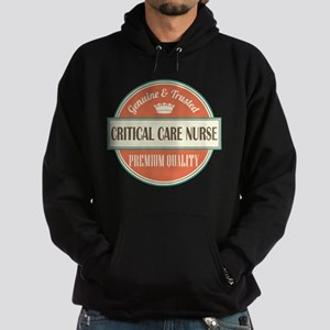 critical care nurse vintage logo Hoodie (dark)