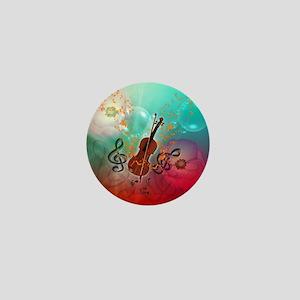Violin with violin Mini Button