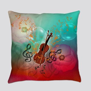Violin with violin Everyday Pillow