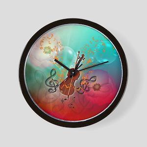 Violin with violin Wall Clock
