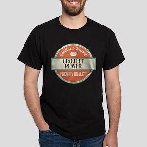 croquet player vintage logo Dark T-Shirt