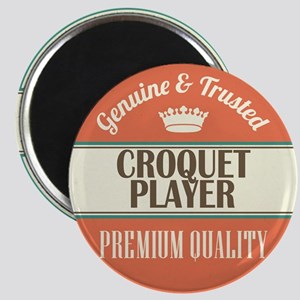 croquet player vintage logo Magnet