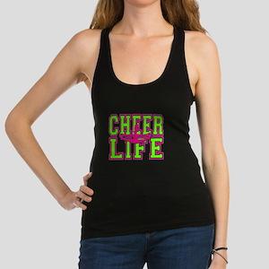 Pink and Green Cheerleader Racerback Tank Top