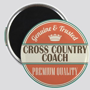 cross country coach vintage logo Magnet