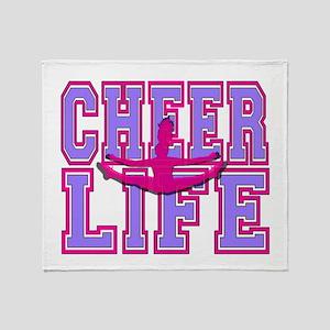Purple and Pink Cheerleader Throw Blanket