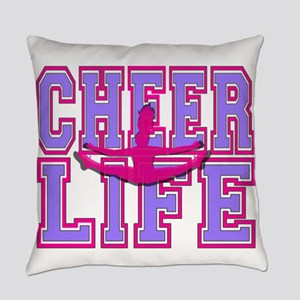 Purple and Pink Cheerleader Everyday Pillow