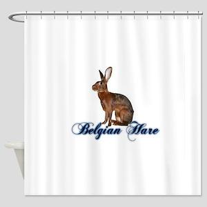 Belgian Hare Shower Curtain