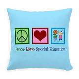 Special education teacher Burlap Pillows