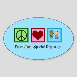 Special Education Teacher Sticker (Oval)