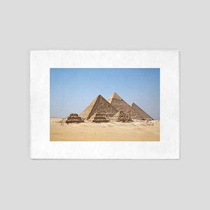 Pyramids at Giza Egypt 5'x7'Area Rug
